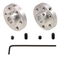 Pololu Universal Aluminum Mounting Hub for 6mm Shaft Pair, 4-40 Holes