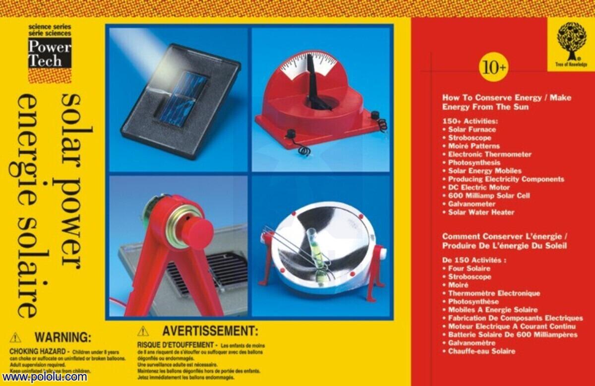 Pololu Solar Power Edu 8405 Snap Circuits Pro Sc500 New
