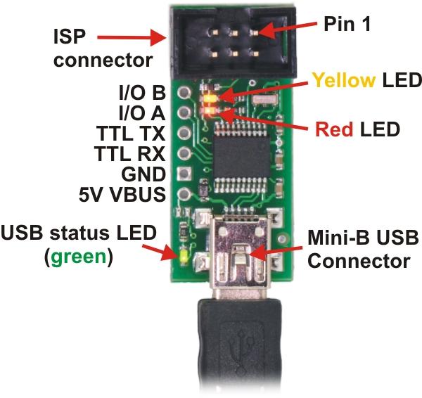 Top View of AVR Programmer