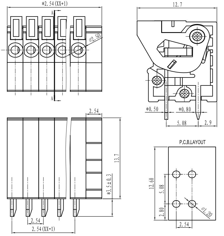 terminal block wiring diagram telephone terminal block wiring diagram pdf pololu - screwless terminal block: 6-pin, 0.1″ pitch, top ...