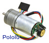34:1 Metal Gearmotor 25Dx52L mm HP 6V with 48 CPR Encoder