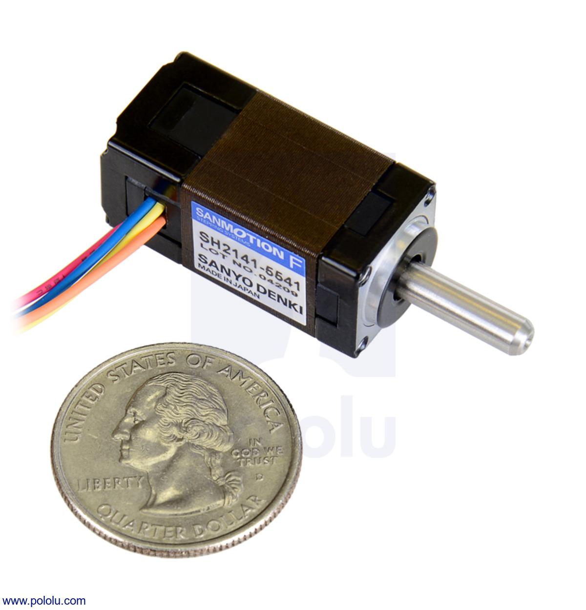 Pololu Sanyo Miniature Stepper Motor Bipolar 200 Steps Rev 14 Micro Servo Wiring Diagram Previous
