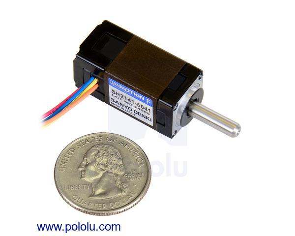 Pololu sanyo miniature stepper motor bipolar 200 steps for 3v dc motor datasheet