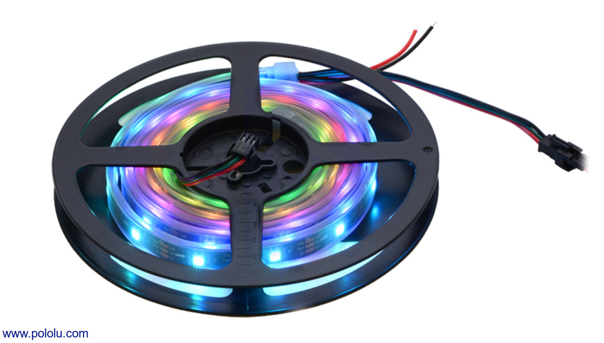 Pololu Addressable Rgb 60 Led Strip 5v 2m Ws2812b Leds To A Live Circuit This Will Damage The Immediately And 2 Meter On Included Reel