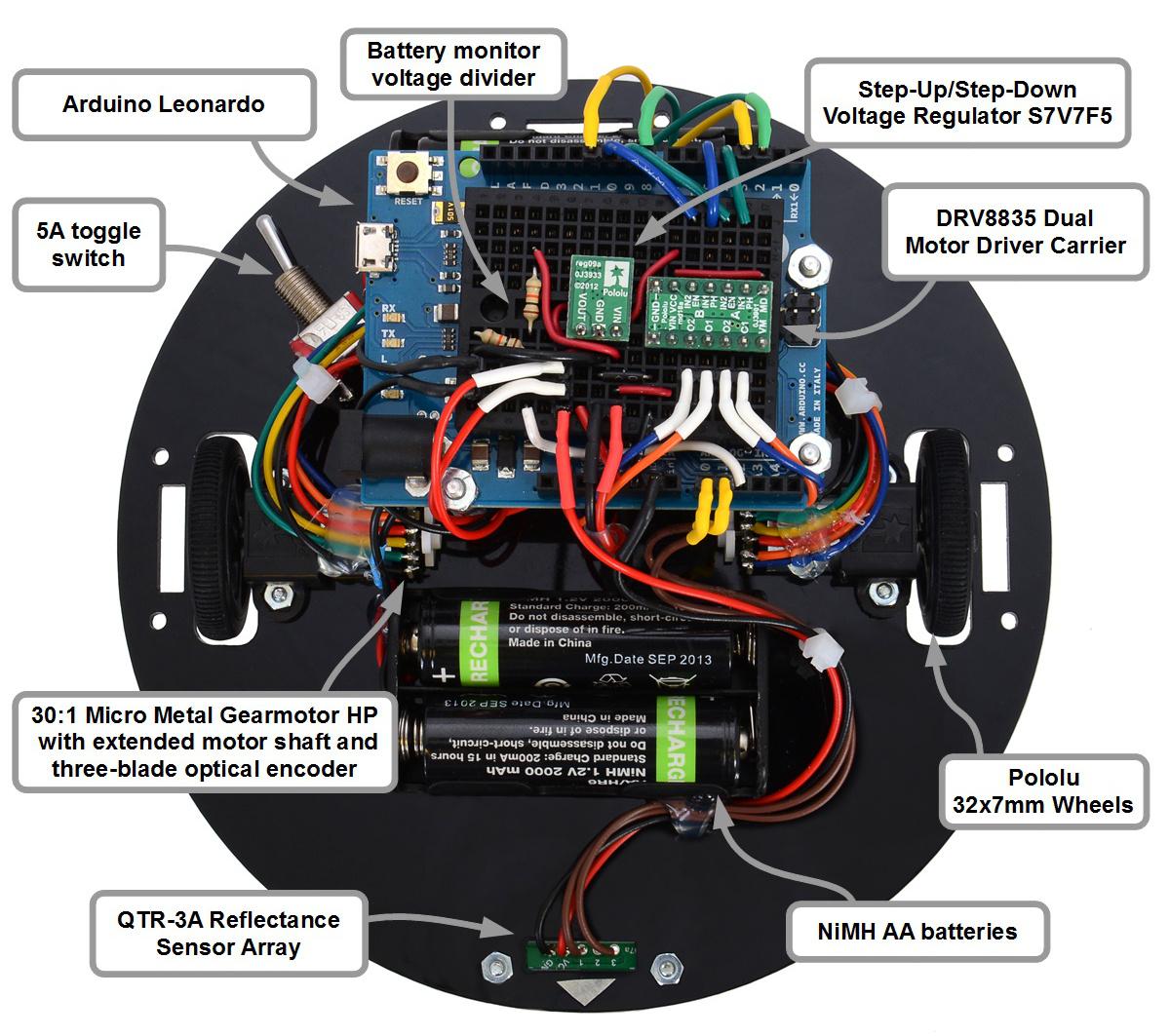Pololu Pauls Dead Reckoning Robot Rrsspdt Spdt Round Rocker Switch Top View Of Paul Reckoning288ec5df