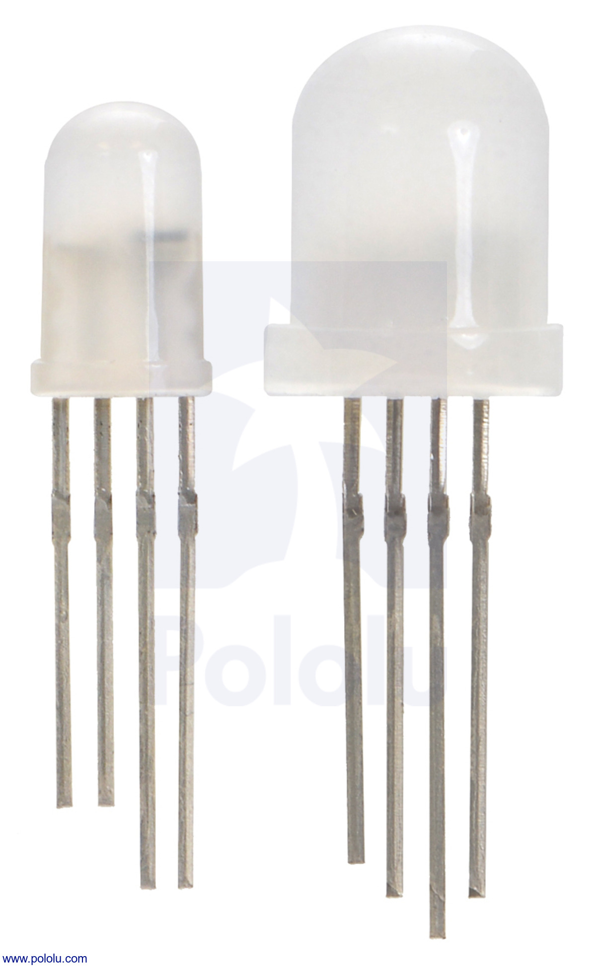 Pololu Blog Page 46 Driving Laser Diodes Comparing Discrete Vs Integrated Circuits Ee Two Different Sizes Of Addressable Rgb Led From Left To Right Their Diameters Are 5 Mm 2535 And 8 2536