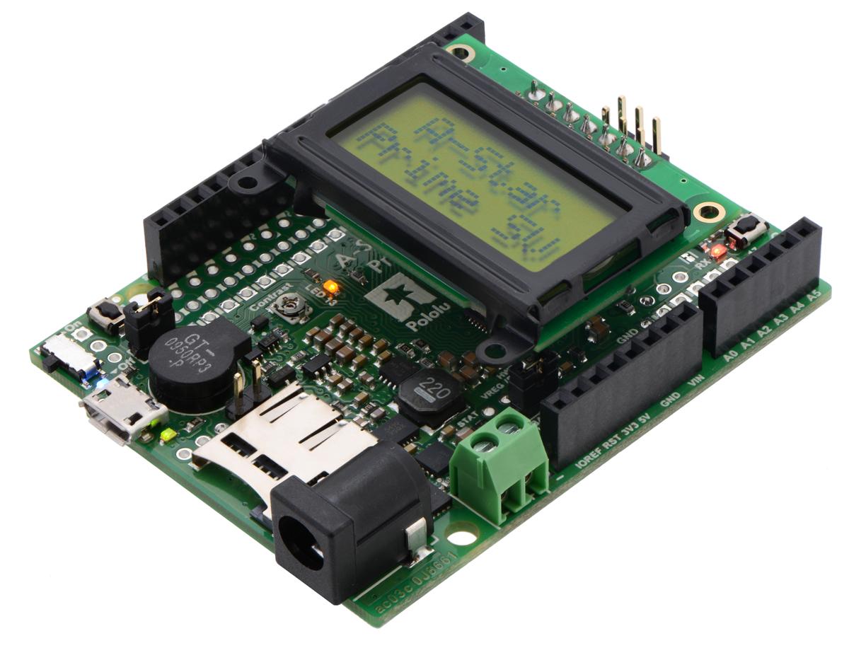 Pololu - A-Star 32U4 Prime SV microSD with LCD.