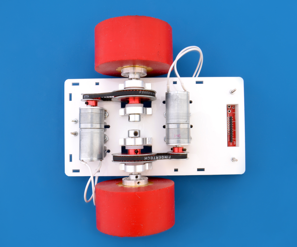 Pololu Grants Line Following Robot Pinto Simple Without Microcontroller Make Robots In Inside View Of