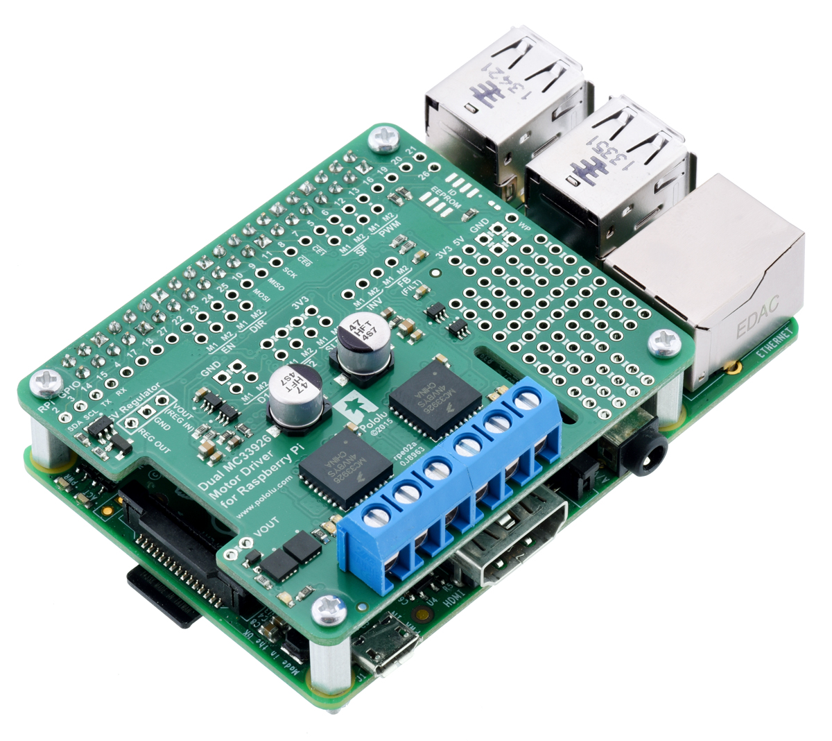 Pololu Posts Tagged Raspberry Pi Page 2 Wiringpi Pin Input The Dual Mc33926 Motor Driver For Is Our Latest Offering Designed To Help You Build A Robot Around Powerful And Versatile
